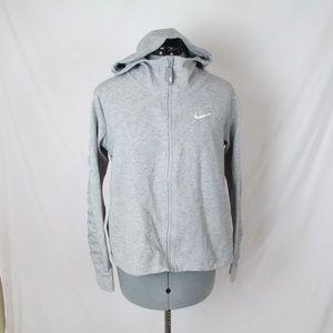Nike Hoodie Gray Silver Swoosh Full Zip